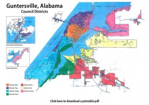 Guntersville Council Voting Districts