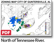 Guntersville zoning map north